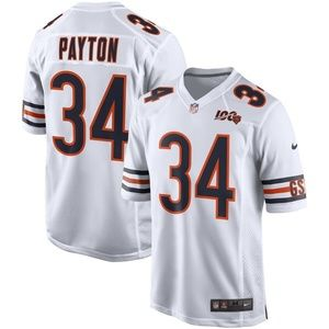 Men's Chicago Bears 34 Walter Payton 100 Jersey